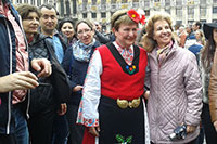 Gina Popova with the european commissioner