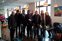 The visit in Brussels of the famous  bulgarian rock group  Sturzite with our staff